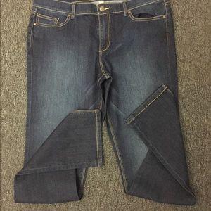 NY&Co Lower Rise Skinny Dark blue Jeans NWOT SZ 14